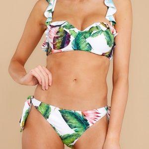 NEW Beautiful Tropical Leaf Print Bikini Set